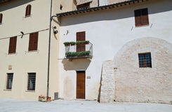 Typical house. Spello. Umbria. Royalty Free Stock Photos