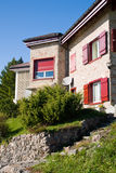 Typical house in the swiss alps Royalty Free Stock Photography