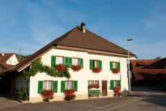 Typical house in Switzerland Stock Photography