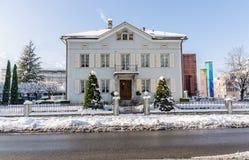 Typical House in Vaduz Lichtenstein Royalty Free Stock Photography