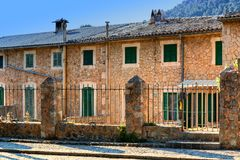 A typical house of Valldemossa - Mallorca, Spain. A beautiful building in Valldemossa, famous old Mediterranean village of Mallorca Royalty Free Stock Image