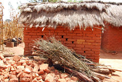 A typical house in the village of African Pomerini - Tanzania - Stock Photo