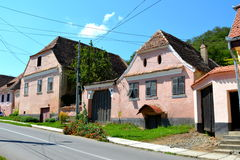 Typical house in the village Biertan, Transylvania. Stock Image