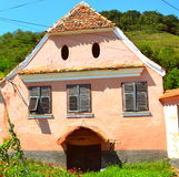 Typical house in the village Biertan, Transylvania Royalty Free Stock Images