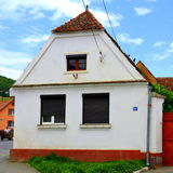 Typical house in the village Codlea, Transylvania. Stock Image