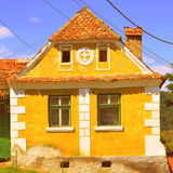 Typical house in the village Crit, in the area of the fortified medieval church in the village Ungra, Transylvania. Stock Images