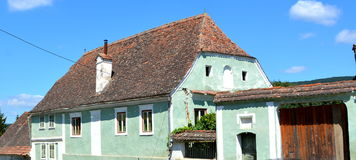Typical house in the village Crit (Kreutz), Transylvania. Royalty Free Stock Photo