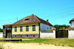 Typical house in the village Merghindeal- Mergenthal, Transylvania, Romania Stock Images