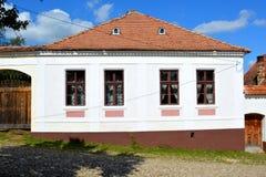 Typical house in the village Viscri, Transylvania. Royalty Free Stock Photos
