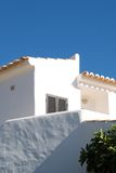 Typical house with white stucco in Algarve Typica Royalty Free Stock Photography