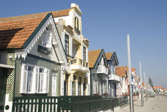 Typical Houses. Typical beach houses of Costa Nova, Portugal Stock Image