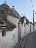 Typical houses of Alberobello, in Puglia, Italy. These ancient houses are called Trulli. Typical houses alberobello puglia italy ancient called trulli royalty free stock photos