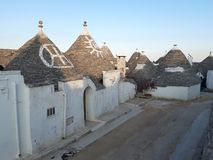 Typical houses of Alberobello, in Puglia, Italy. These ancient houses are called Trulli. Typical houses alberobello puglia italy ancient called trulli royalty free stock images