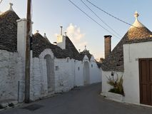 Typical houses of Alberobello, in Puglia, Italy. These ancient houses are called Trulli. Typical houses alberobello puglia italy ancient called trulli royalty free stock image