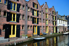 Typical houses in Alkmaar (netherlands) Royalty Free Stock Image
