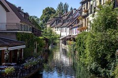 Typical houses in Alsace Stock Images