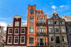 Typical houses of Amsterdam. royalty free stock images