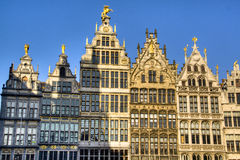 Typical houses of Antwerp Stock Images
