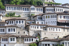 Typical houses berat albania europe Royalty Free Stock Photography