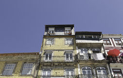 Typical houses in Braga. Detail of the decoration of the facades Royalty Free Stock Photography