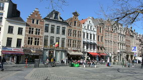 Typical houses in Brussels. A view of the typical houses in downtown stock video