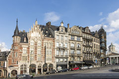 Typical houses in Brussels Royalty Free Stock Image