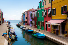 Typical houses in Burano Royalty Free Stock Photos