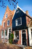 Typical houses on the canal, Edam, Netherlands Stock Photos
