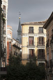 Typical houses in the centre of Madrid stock images