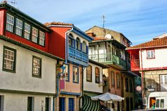 Typical houses of Chaves royalty free stock photography