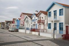 Typical houses of Costa Nova, Aveiro, Portugal. Stock Image