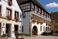 The typical houses in Eguisheim village in France Stock Image
