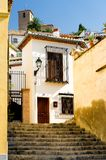 Typical houses in Granada Royalty Free Stock Photos