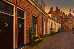 Typical houses in Holland Royalty Free Stock Photography