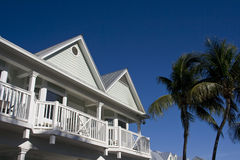 Typical houses Key West stock photos