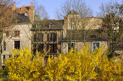 Typical houses at Le Mans in France Stock Image