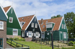 Typical Houses of Marken Stock Images