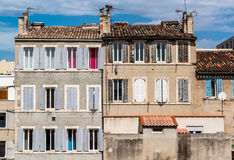 Typical houses of Marseille Stock Image