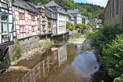 Typical houses in Monschau Stock Photography