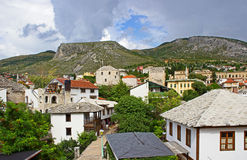Typical Houses in Mostar Stock Photos