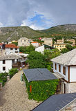 Typical Houses in Mostar Stock Photo