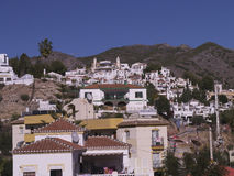 Typical Houses in Nerja Andalucia Spain Stock Photography
