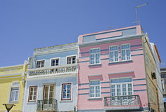 Typical Houses Of Lagos In South Portugal Royalty Free Stock Photos