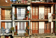 Typical houses in Oporto Royalty Free Stock Photo
