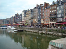 Typical Houses in the Port of Honfleur Royalty Free Stock Photography