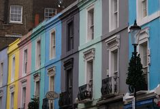 Typical houses in Portobello Road Stock Photography