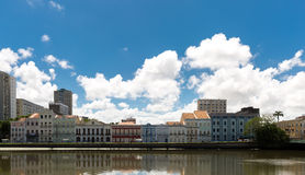 Typical houses in Recife, located in Pernambuco State, Brazil Royalty Free Stock Image