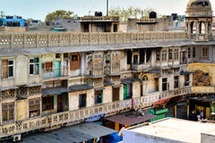 Typical houses with roof life in old Delhi, India Stock Photo