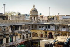 Typical houses with roof life in old Delhi, India Royalty Free Stock Image