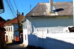 Typical houses in Rosia Montana, Apuseni Mountains Stock Photos